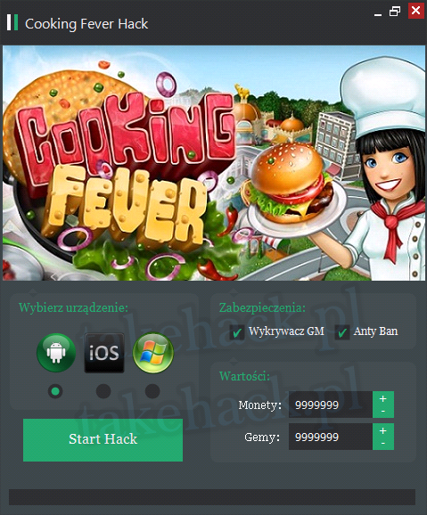 Cooking Fever Hack na Gemy