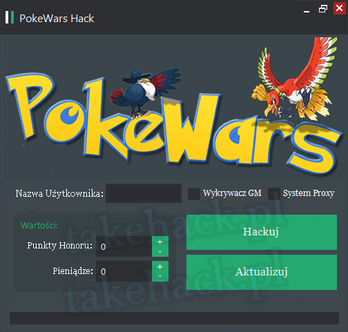 PokeWars Hack na Punkty Honoru 2018